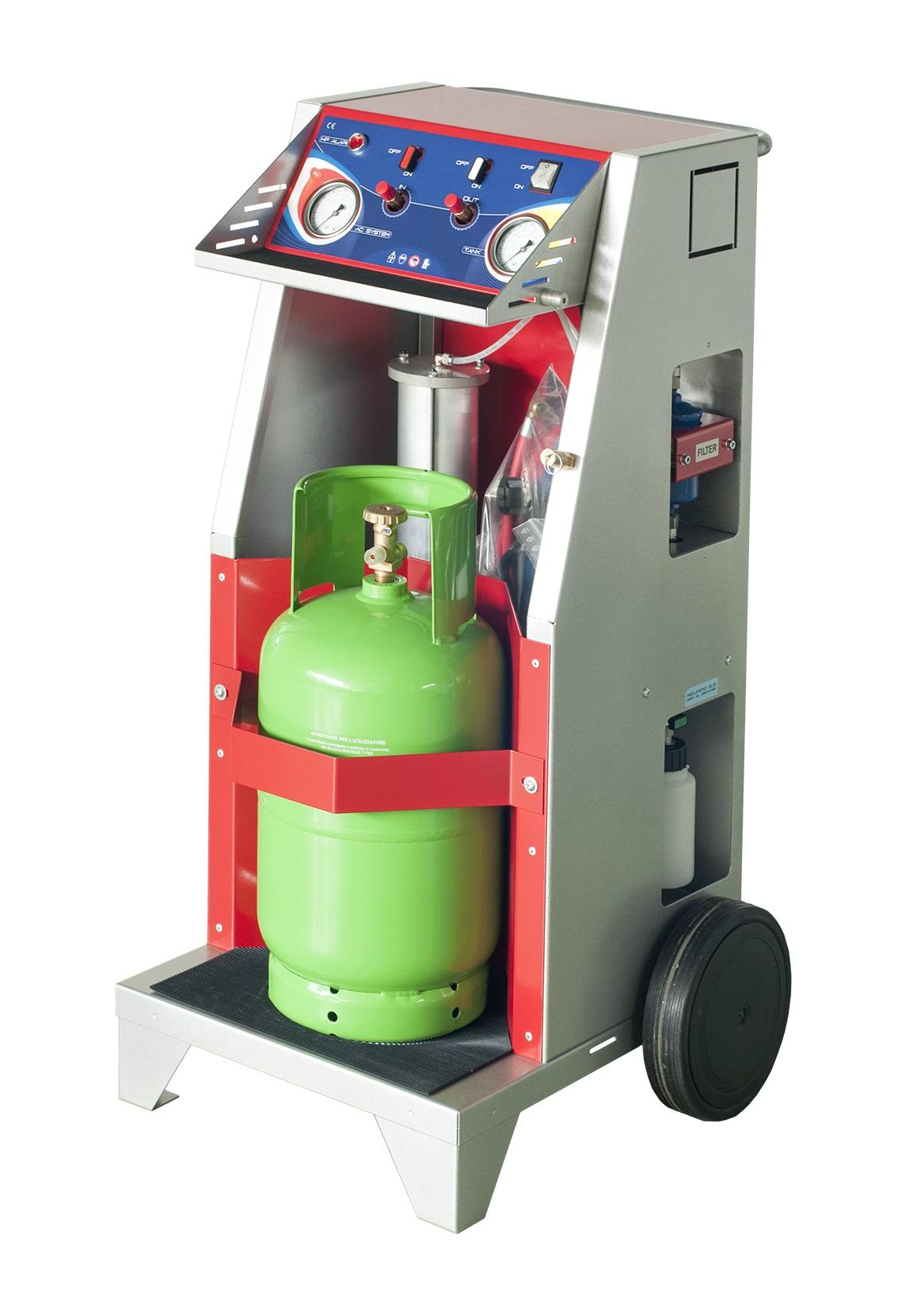 Stazione di recupero e riciclo per gas refrigeranti carrellata